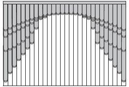 Жалюзи для арок и эркеров